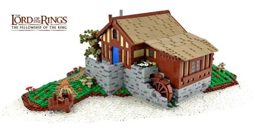 Sandyman's Water-Mill (Hobbiton, The Shire) by TheBrickAvenger http://flic.kr/p/fUQ6Et