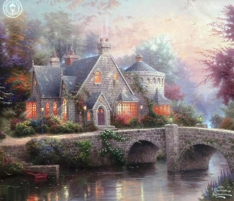 Thomas Kinkade Lamplight Manor Томас кинкейд, Пейзажи