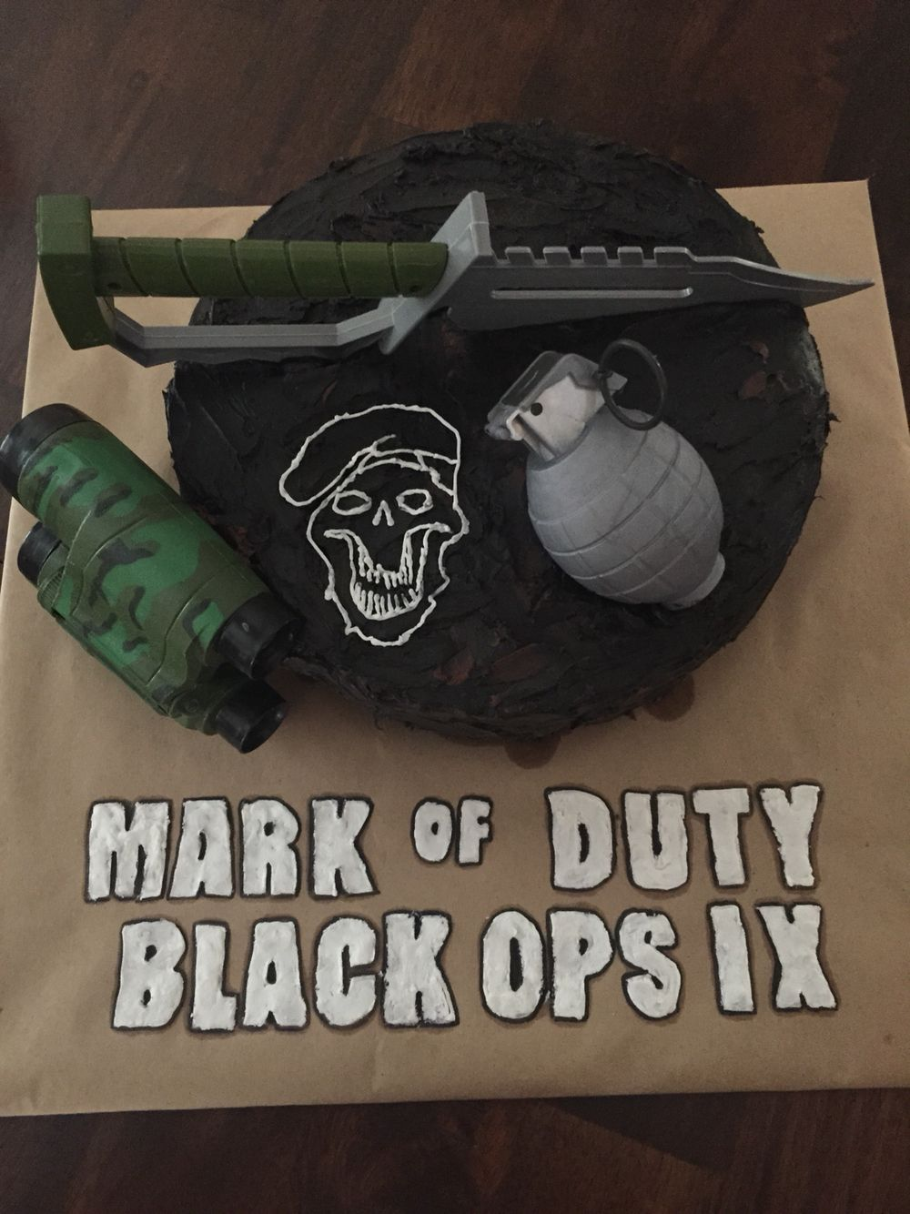 Call of Duty cake for Markie's 9th Birthday b