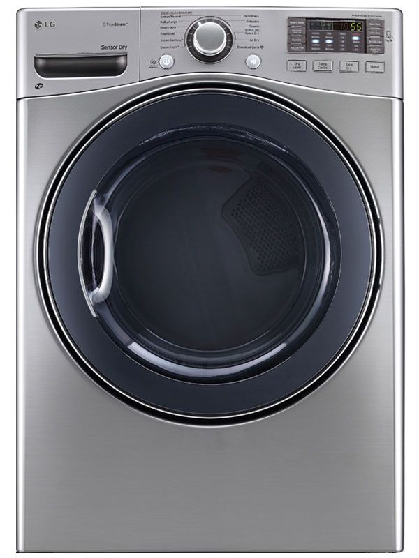 Lg Dlex3570v 27 Steamdryer Series Electric Dryer With 7 4 Cu Ft Capacity 12 Dry Cycles 5 Temperature Settings Steam Electric Dryers Steam Dryer Gas Dryer
