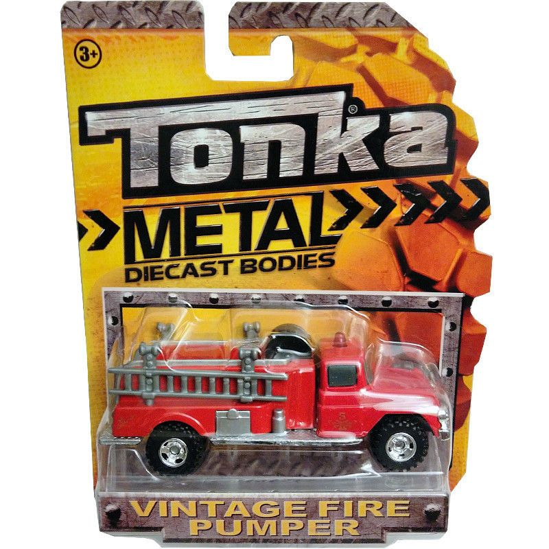 Tonka Authentic Diecast bodies 3 pack,Police Wagon,Police Cruiser and Fire Rescue Funrise