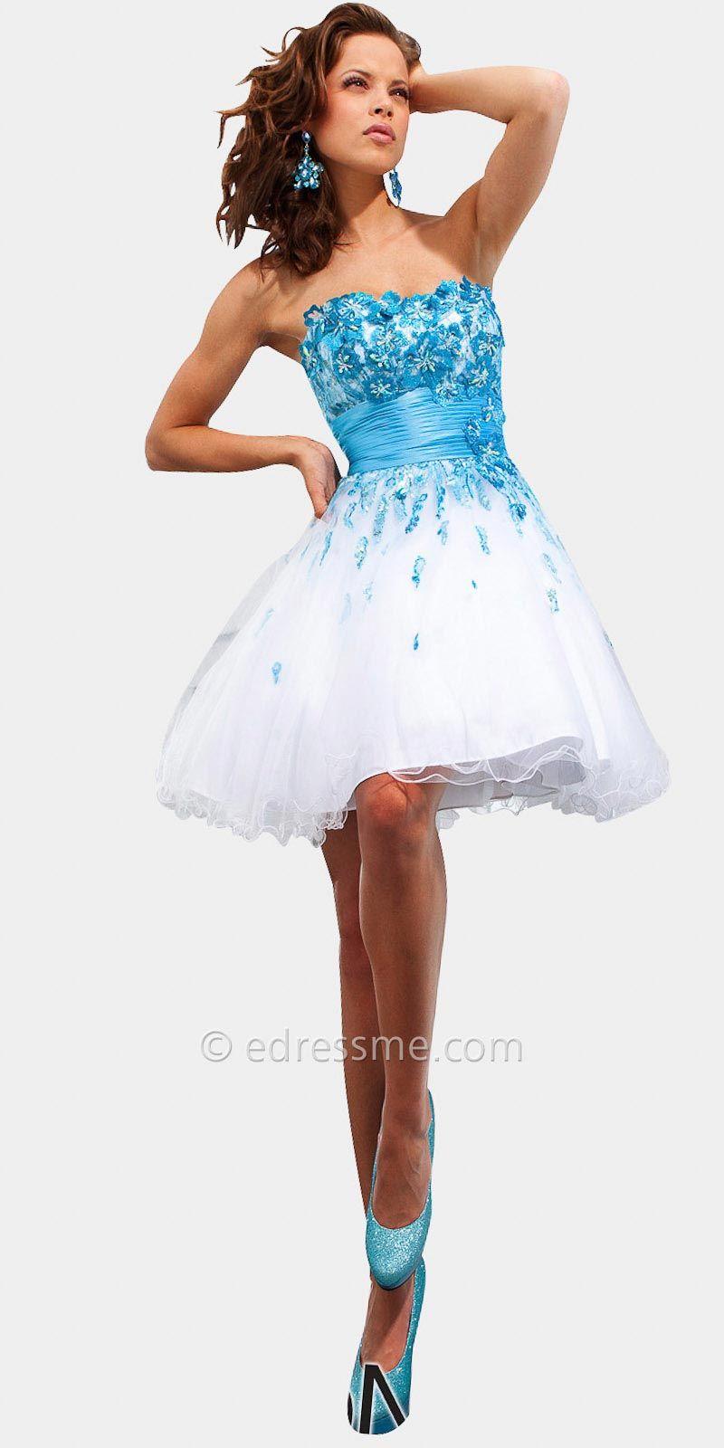Floral short prom dresses by tony bowls fashion pinterest tony