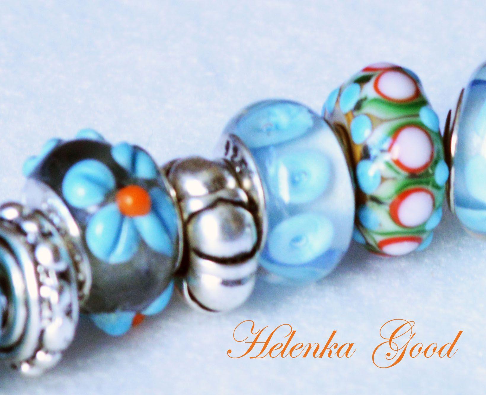 Blue flowers pandora style bracelet in my shop helenkagoodvem blue flowers pandora style bracelet in my shop helenkagoodvem izmirmasajfo