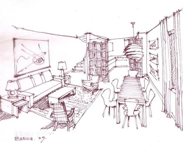 interior design long distance decorating elle decor easy interior design sketches stylish - Easy Interior Design Sketches