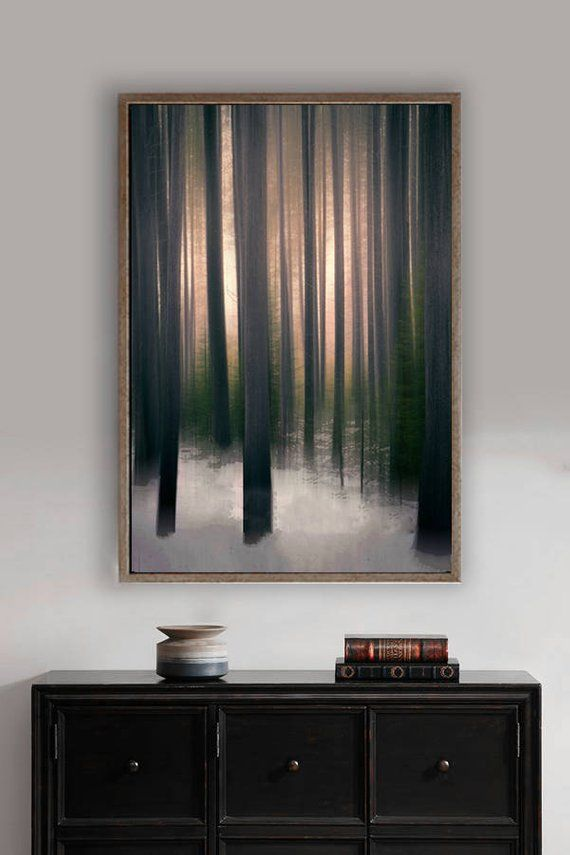 """Photo of Abstract Tree Art – brown tree wall art 8×10 photo forest wall art copper 11×14 snowy forest 20×30 large abstract art 16×20 – """"Winter Woods"""""""