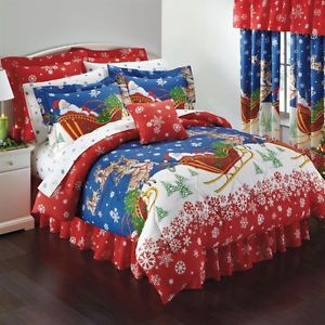 Christmas Bedding About Santa Clause Complete Twin Size