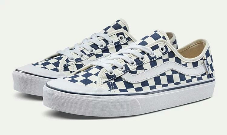 9e710080416a Original VANS Blue and white checkerboard coup Men and Womens Sneakers  canvas shoes