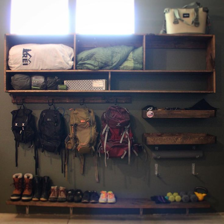 "Photo of Liz Huggins on Instagram: ""I figured all my outdoor gear and gadgets deserved a cooler home than a couple bins in the back of the garage…so, one thing led to…"""