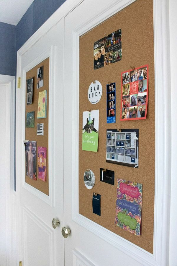 Love This For A Kids Room Cork Boardolding Added To Flat Closet Doors