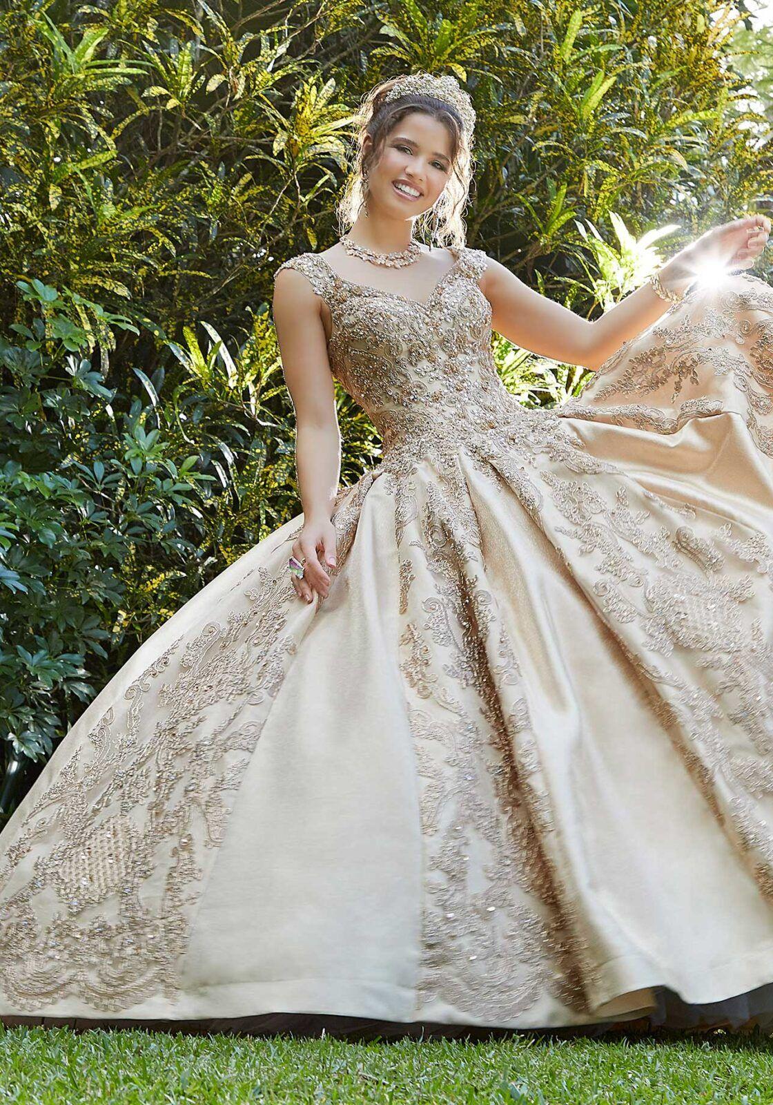Metallic Lace And Larissa Satin Quinceanera Dress Morilee Quinceanera Dresses Pink Quinceanera Dresses Dresses [ 1600 x 1120 Pixel ]