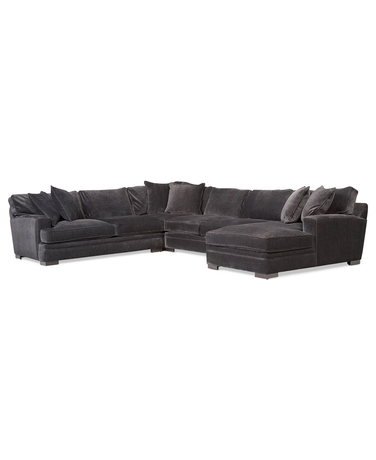 Teddy Fabric 4 Piece Chaise Sectional Sofa Created for Macy s
