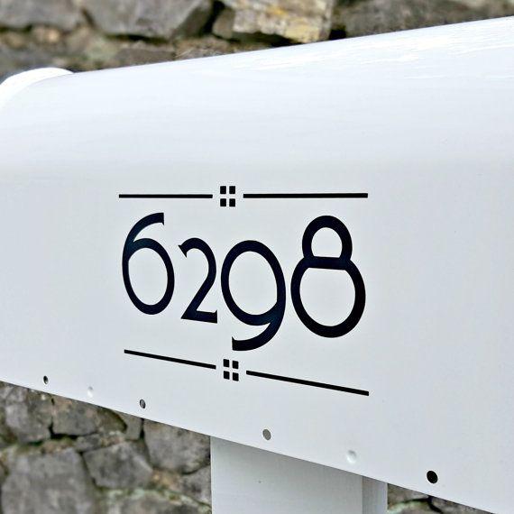 Craftsman Mailbox Numbers 2 Sets Arts Crafts Custom Mailbox Numbers In 2020 With Images Craftsman Mailboxes Mailbox Numbers Custom Mailboxes