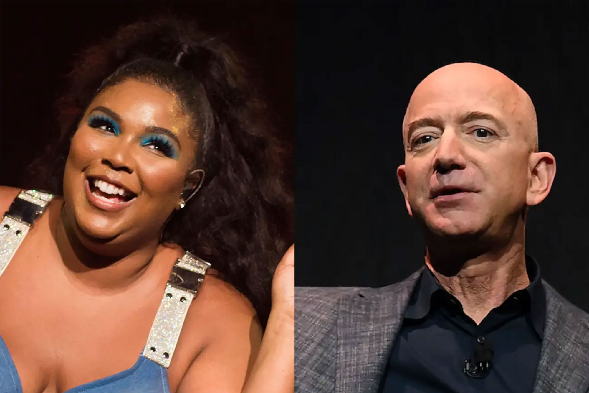 Jeff bezos and lizzo hung out during the super bowl in