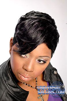 Black Hair Salons Styles And Models Universal Salon With Images Black Hair Salons Black Hair Stylist Short Hair Styles 2014