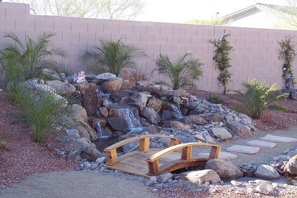 amazing pond and desert landscaping ideas