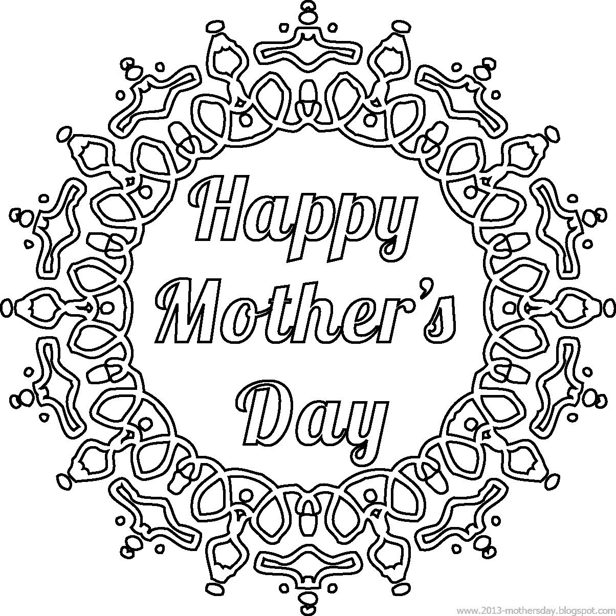 Free Mother S Day Templates Printables