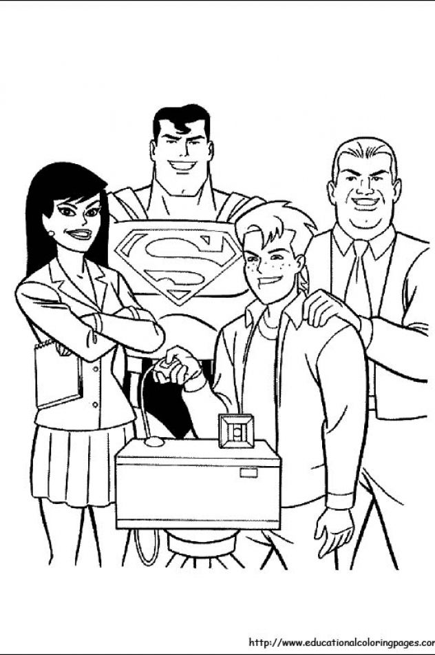 Superman Coloring Pages free For
