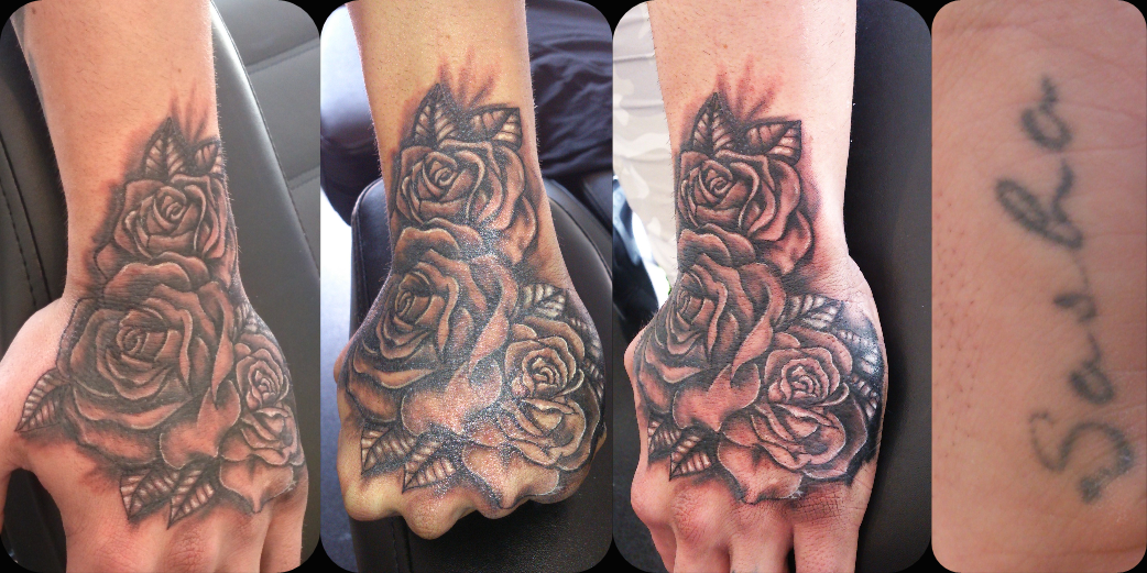 877b7c17527b7 Rose Tattoo Cover Up, Cover Up Tattoos, Jester Tattoo, Realistic Rose Tattoo ,