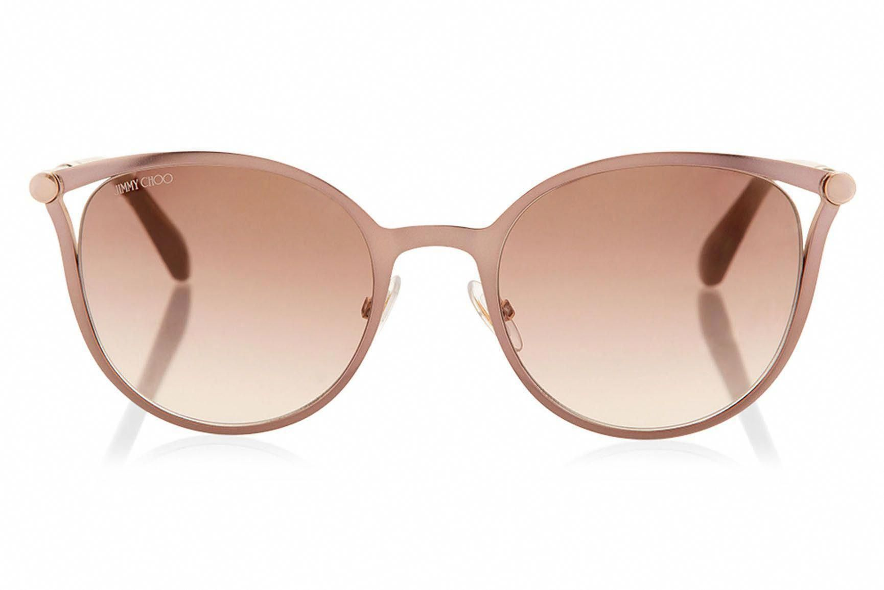 44844d0a7f Jimmy Choo - Neiza Brown Rose Gold Cat-Eye Sunglasses  JimmyChoo ...