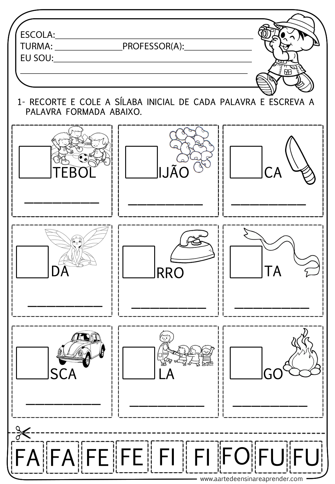 Atividade pronta - Família silábica do F | Pinterest | Neid und Wellen