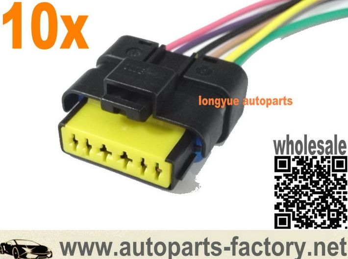 Long Yue Mass Air Flow Throttle Body Connector 5wk9623 5wk9620 Gm Opel Nissan Fiat Throttle Harness Chevy Ls