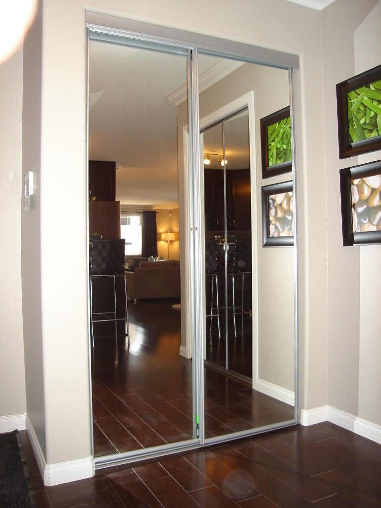 mirrored pin custom and fold doors bi closet installation door louvered bypass
