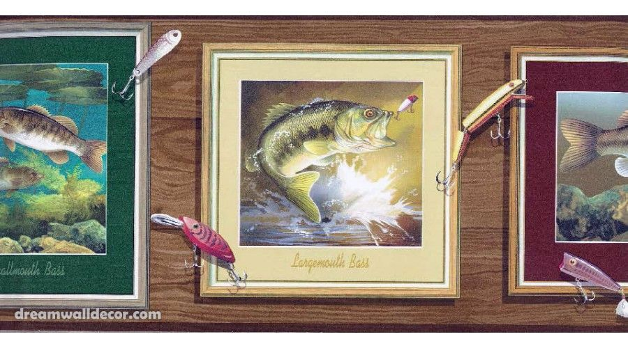 wallpaper and borders fish Home » Brown Framed Fish