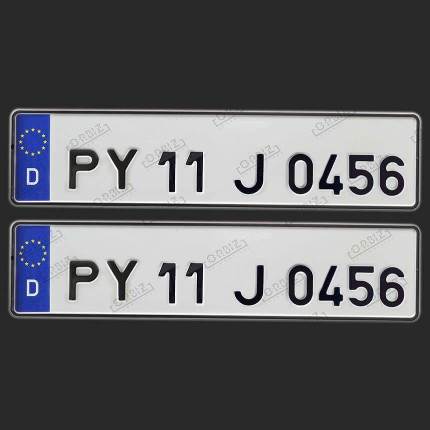Orbiz Speedex Online Fonts Plates Number Plate Design