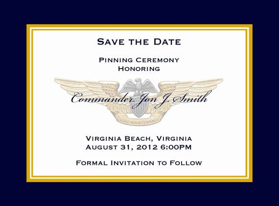 military save the date invitation announcement by starsandstripe