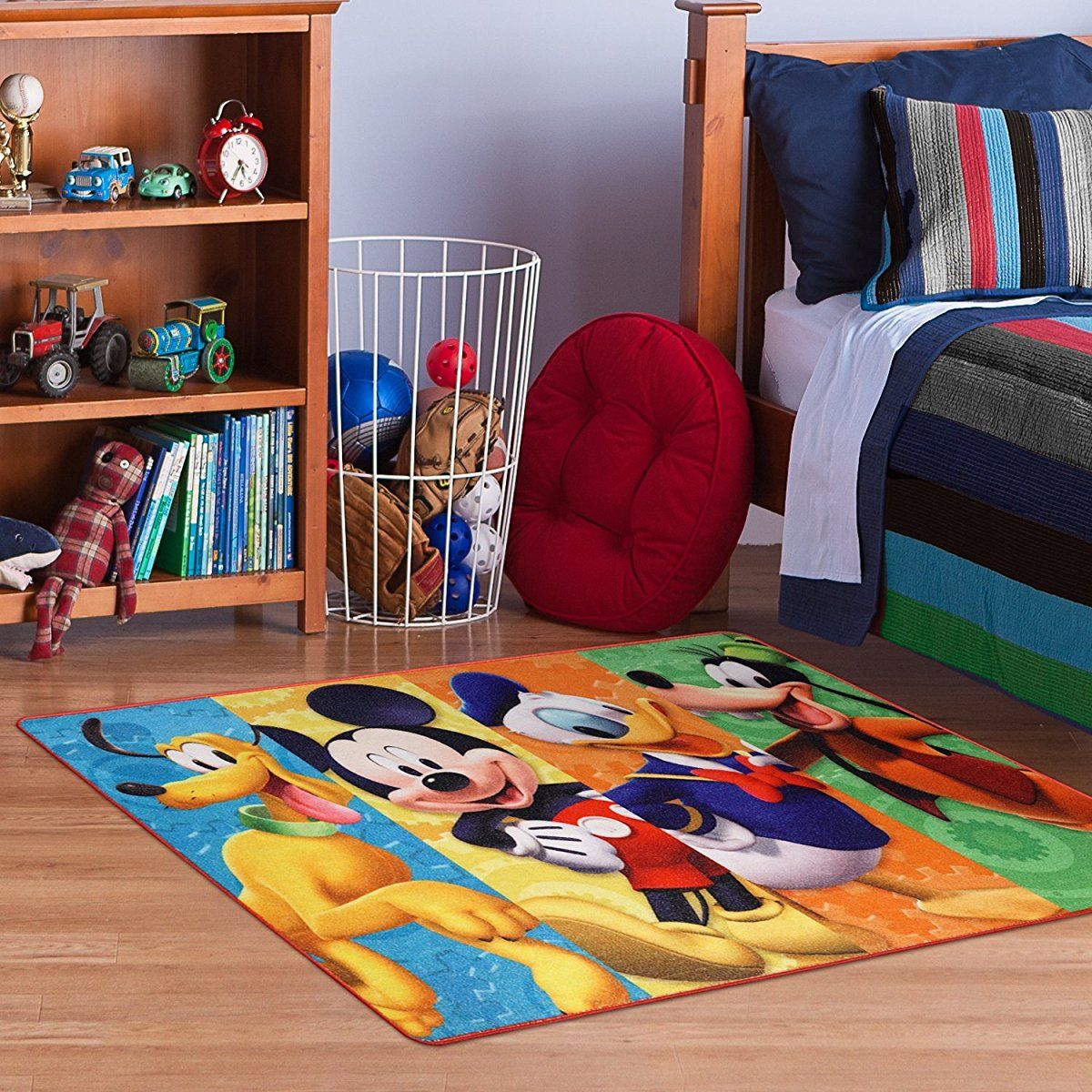 Disney Mickey Mouse Clubhouse Rug Hd Digital Mmch Kids Room Decor Bedding Area Rugs 40 X54 Standard Childrens Bedroom Rug Kid Room Decor Carpets For Kids