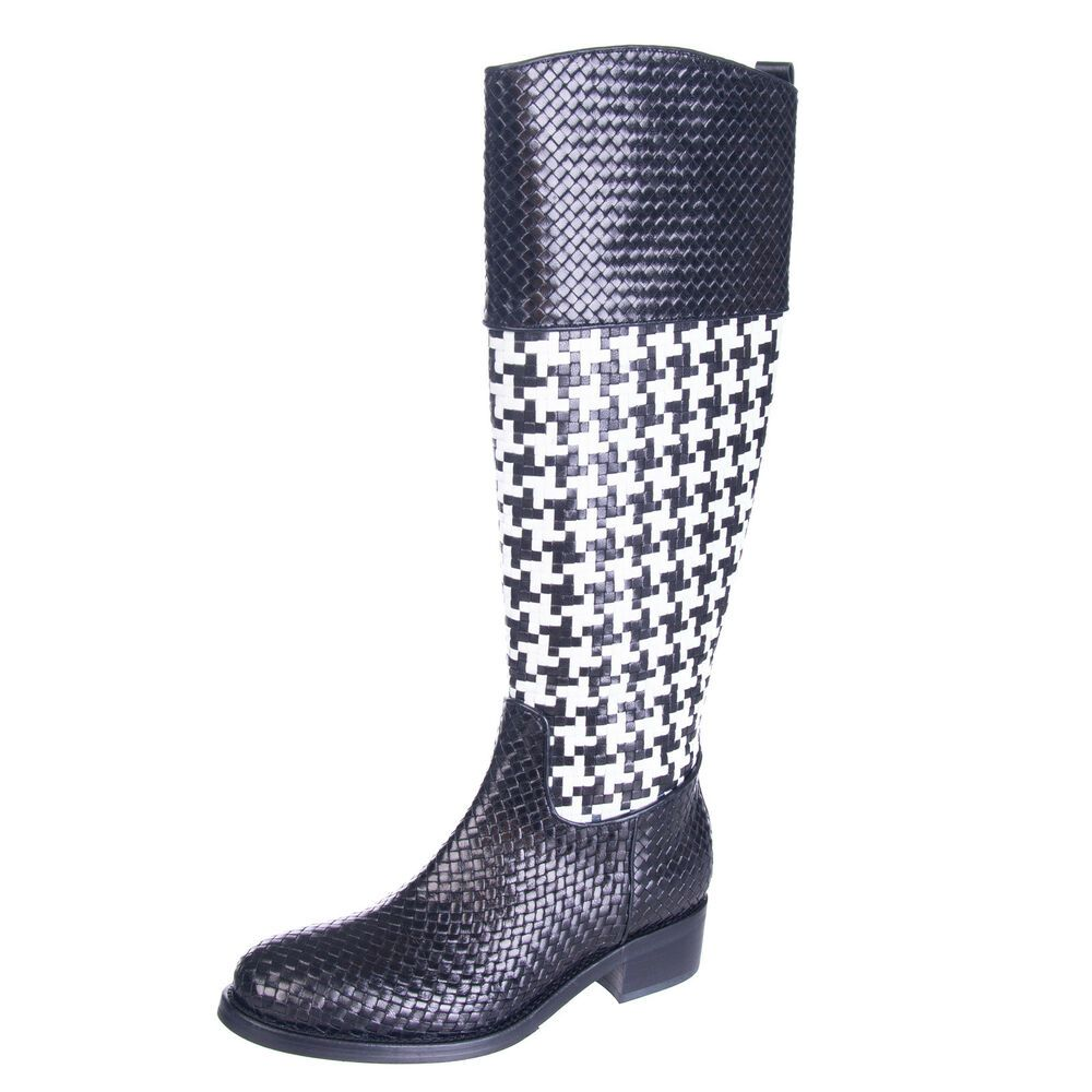 dc6ac945c5f PONS QUINTANA Leather Knee High Boots Mismatch Size L36 R 37 Houndstooth  RRP469  fashion  clothing  shoes  accessories  womensshoes  boots (ebay  link)