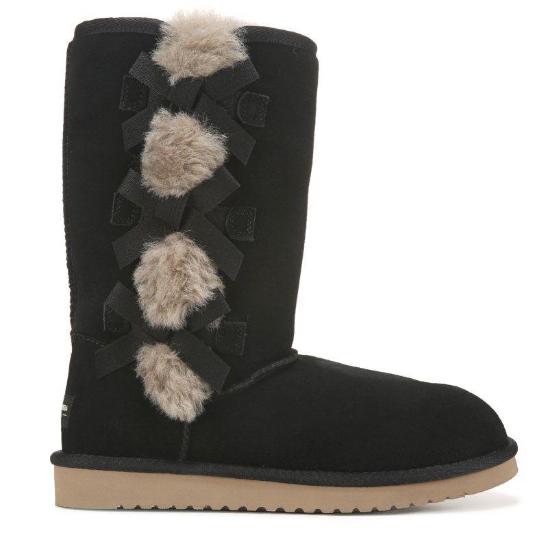 Koolaburra By Ugg Women S Victoria Tall Winter Boots Black Tall Winter Boots Boots Winter Boots
