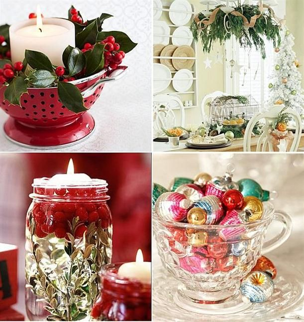 Unique Christmas Decoration ideas From Glass material Kitchen Items