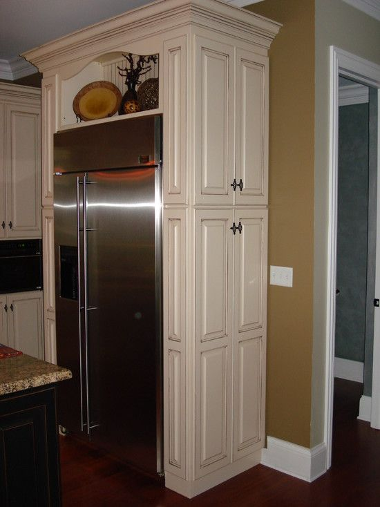 Above refrigerator cabinets design pictures remodel for Kitchen remodel refrigerator