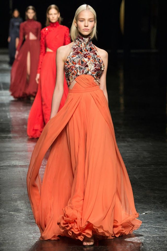 New York Fashion Week. Prabal Gurung Fall/Winter 2014-2015.
