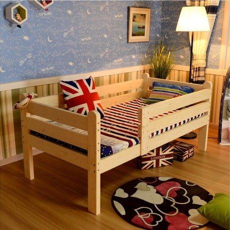 Los niños Camas Para Niños camas de madera maciza Muebles de tamaño ...