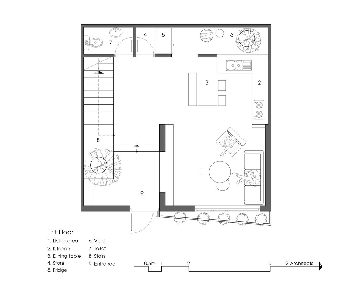 7x7 houseground floor plan