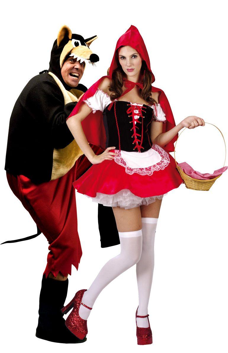 93e50b8555a82f Costume di coppia Cappuccetto Rosso e Lupo cattivo. A Carnevale o per una  serata a tema sulle Fiabe, statene certi: sarete voi la coppia più bella!