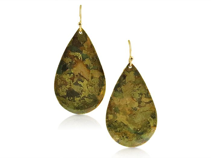 Evocateur 22K Gold Leaf Earrings