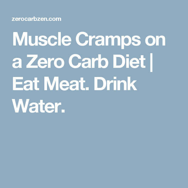 muscle cramps with a carb diet