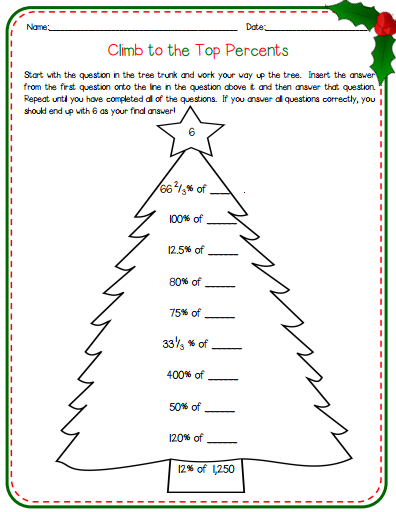 Fun Christmas Ideas for the Middle School Math Classroom ...
