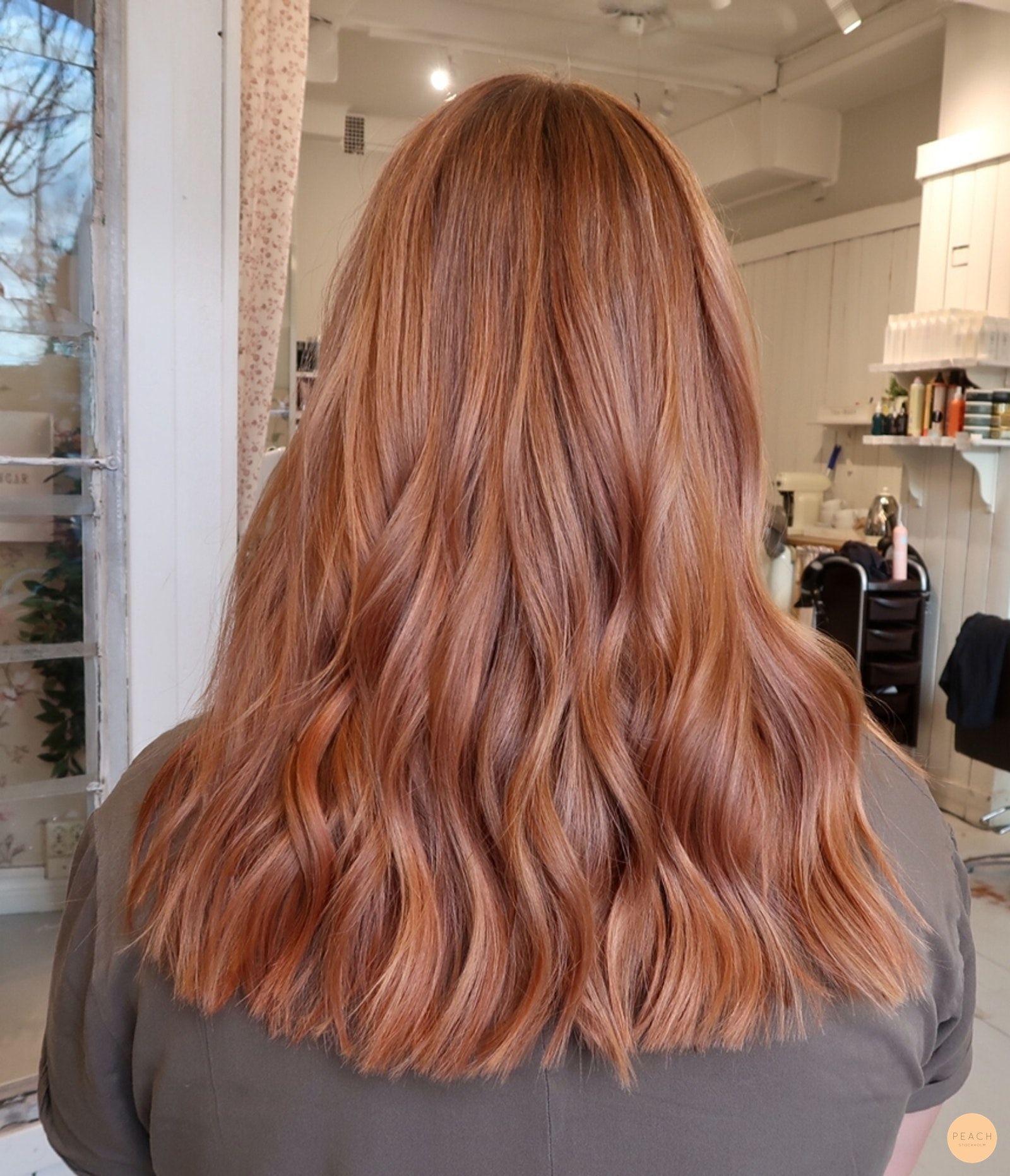Soft copper peach hårfärg med slingor - Peach Stockholm -  Soft copper peach hårfärg med slingor – Peach Stockholm  - #Copper #hårfärg #langefriseur #med #Peach #slingor #Soft #Stockholm