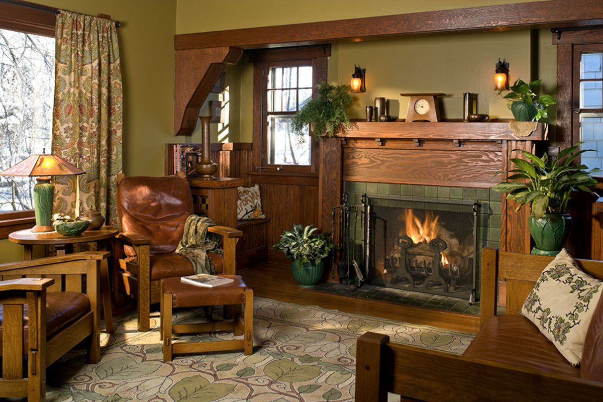 Using Interior Color Palettes For Arts Crafts Homes Craftsman Decor Bungalow Interiors Craftsman Living Rooms