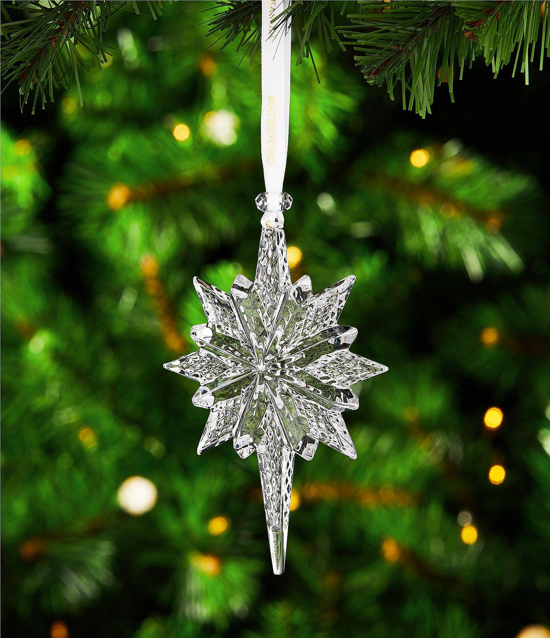 Waterford Crystal 2018 Snow Star Ornament Dillards Christmas Tree Decorations Hobby Lobby Christmas Ornaments Easy Christmas Decorations