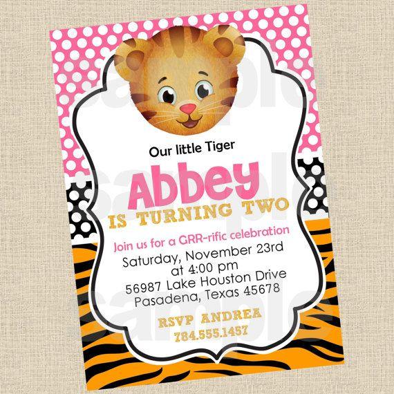 Daniel Tiger Printables   printable diy daniel tiger inspired invitations party invite 12 00 usd ...