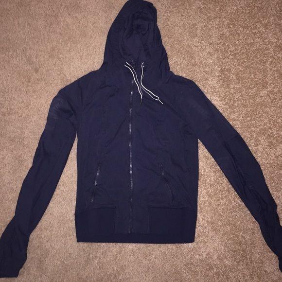 Running jacket Hooded lulu lemon jacket. Navy lululemon athletica Jackets & Coats