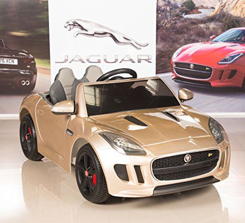 Jaguar F Type 12v Kids Ride On Battery Powered Wheels Car With 2 4ghz Rc Remote Champagne Want Additional Info Kids Ride On Power Wheels Toy Cars For Kids