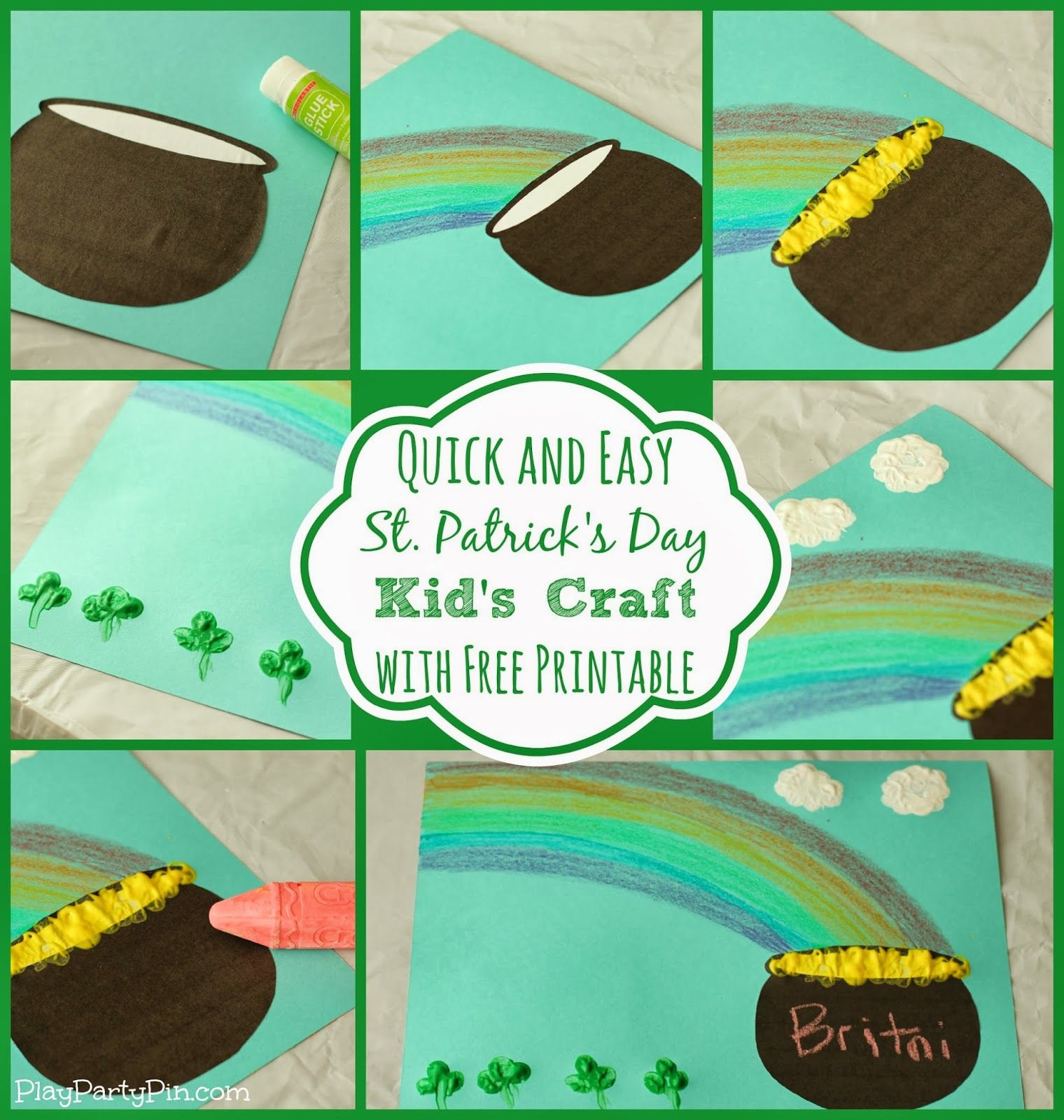Simple St. Patrick\'s Day Craft for Kids using Crayola Crayons ...