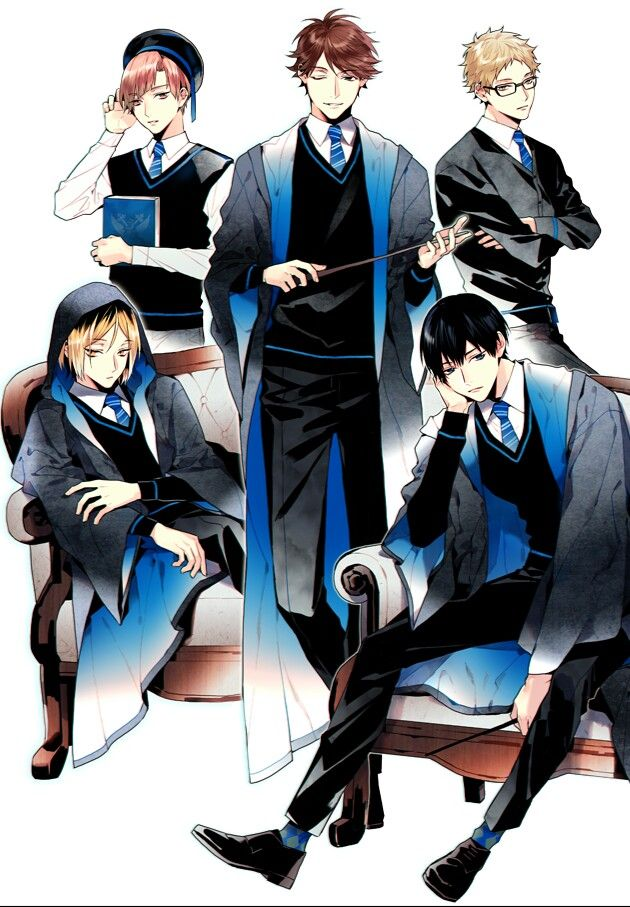 Haikyuu!! << love the art but how the heckaroo did kageyama end up in ravenclaw. He literally acts off of instinct not carefully thought through analysis. Anyone else agree?