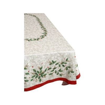 Lenox Holiday Tablecloth Size 84 W X 60 L Christmas Table